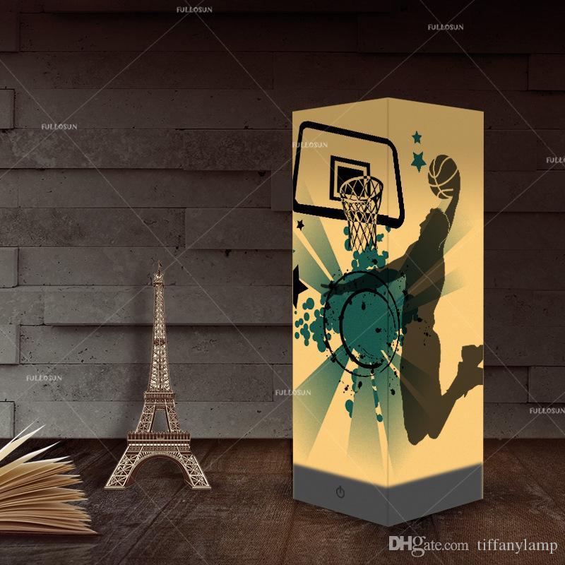 Design do basquetebol 3D criativa Noite Lamp Hot Sale USB Night Light LED Nightlight para o quarto lâmpada de cabeceira