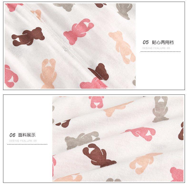 casa de ropa infantil cómoda pijama traje de verano de los muchachos delgados ropa con aire acondicionado del verano del bebé del algodón puro preciosas niñas