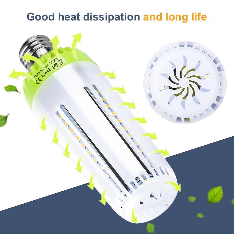 Lampadina del LED E27 Lampadina del cereale 5PC / LOT 10W 15W 20W Fiala LED Lamp Bombilla intelligente IC casa Lampadina nessuna luce intermittente risparmio energetico