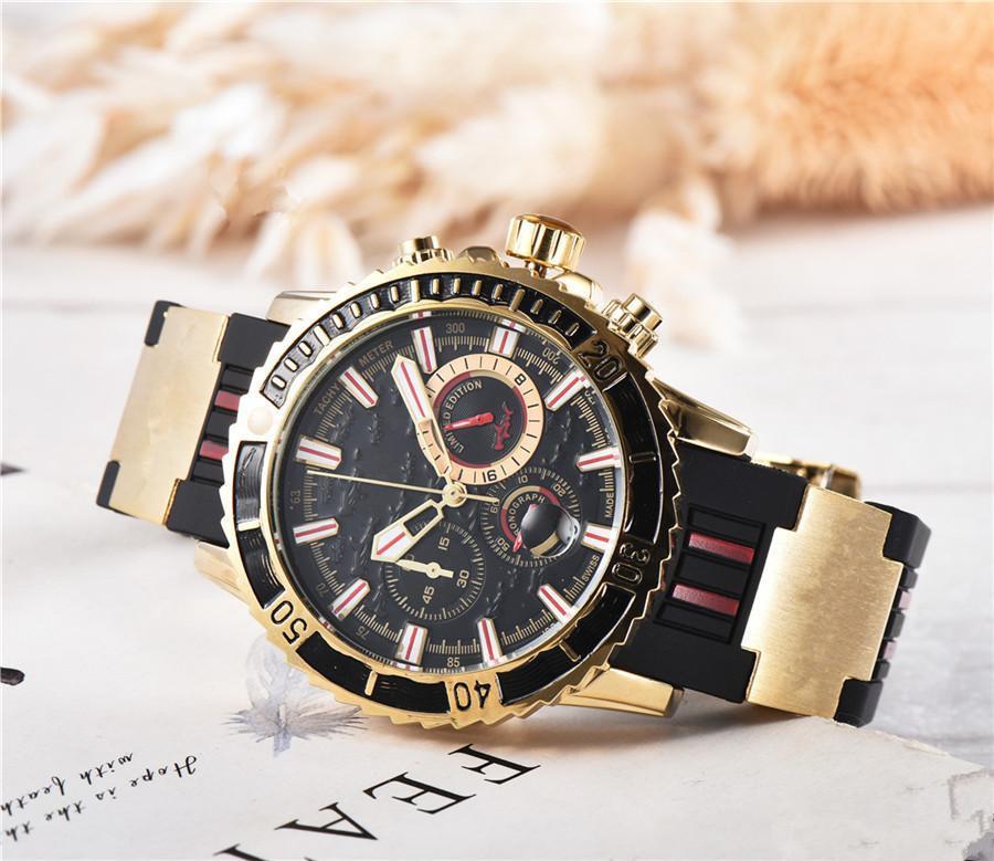 Homens de alta qualidade relógio UN relógios de quartzo automático de aço Inoxidável Atenas Relogio Marine montre gg1000 tubarão casual lamborghini relógio de pulso DE