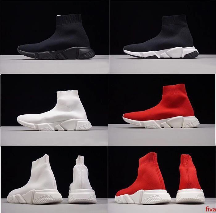 Высокое качество Носок Обувь Chaussures моды Роскошная сек обуви белый черное платье De Luxe тапки Мужчины Женщины Повседневная обувь