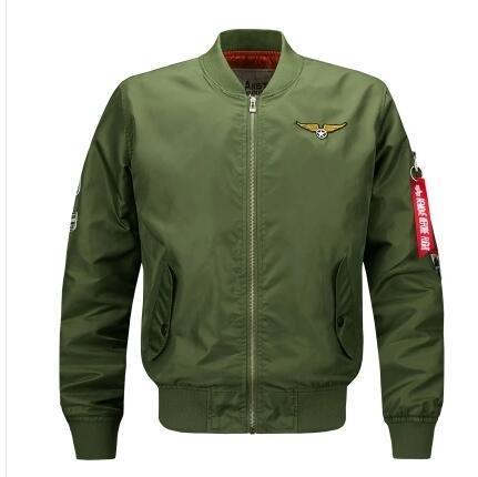 Мужские куртки весной и осенью новая крупногабаритная спортивные случайный стенд воротник воздушных сил MA1 No. 1 набор инструментов пилотой тенденции мода мужской куртка