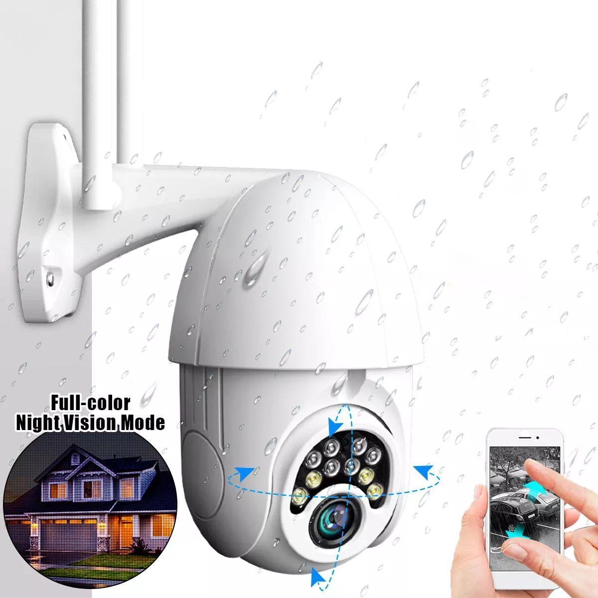 كاميرا 10LED 5X زووم HD 2MP الأمن IP لاسلكية واي فاي 1080P في الهواء الطلق PTZ ليلة الرؤية مقاوم للماء ONVIF - الاتحاد الأوروبي قابس
