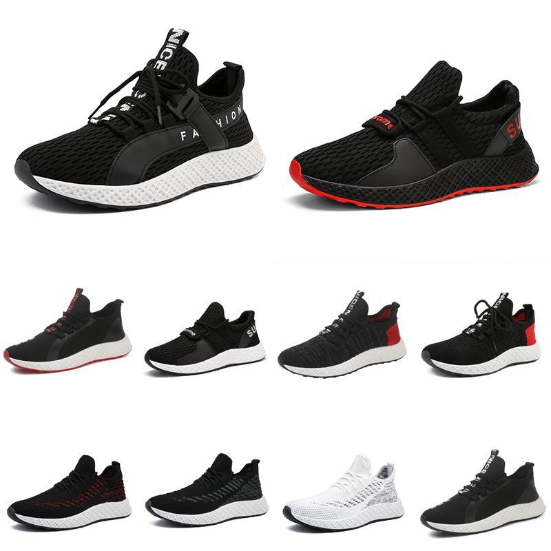 Кроссовки Мужчины Тройной Черный Белый Красный Chaussures Hommes Мужские дышащие Кроссовки Athletic Спорт Кроссовки Zapatos 39-44 Стиль 4 Оптовая