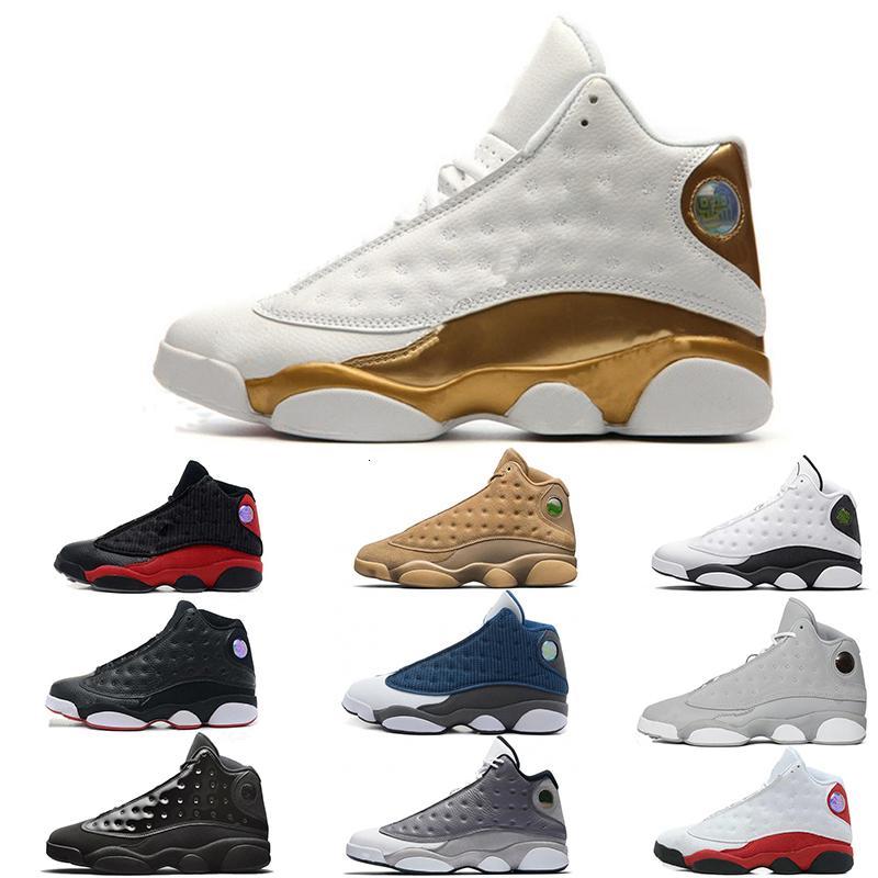 Top Quality 13s Mens scarpe da basket cappello e abito Phantom DMP Chicago GS Hyper Royal Black Cat Flints Bred Brown Sport Sneaker Size40-47