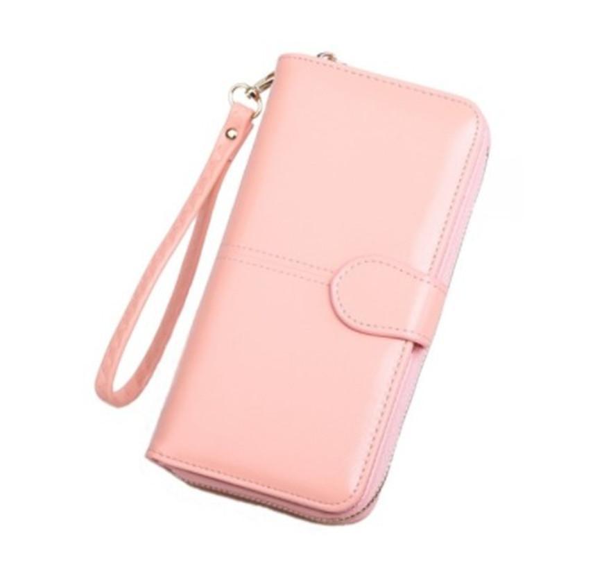 محفظة جلدية مصممة لبطاقة الإئتمان علامة أزياء محفظة نسائية فاخرة