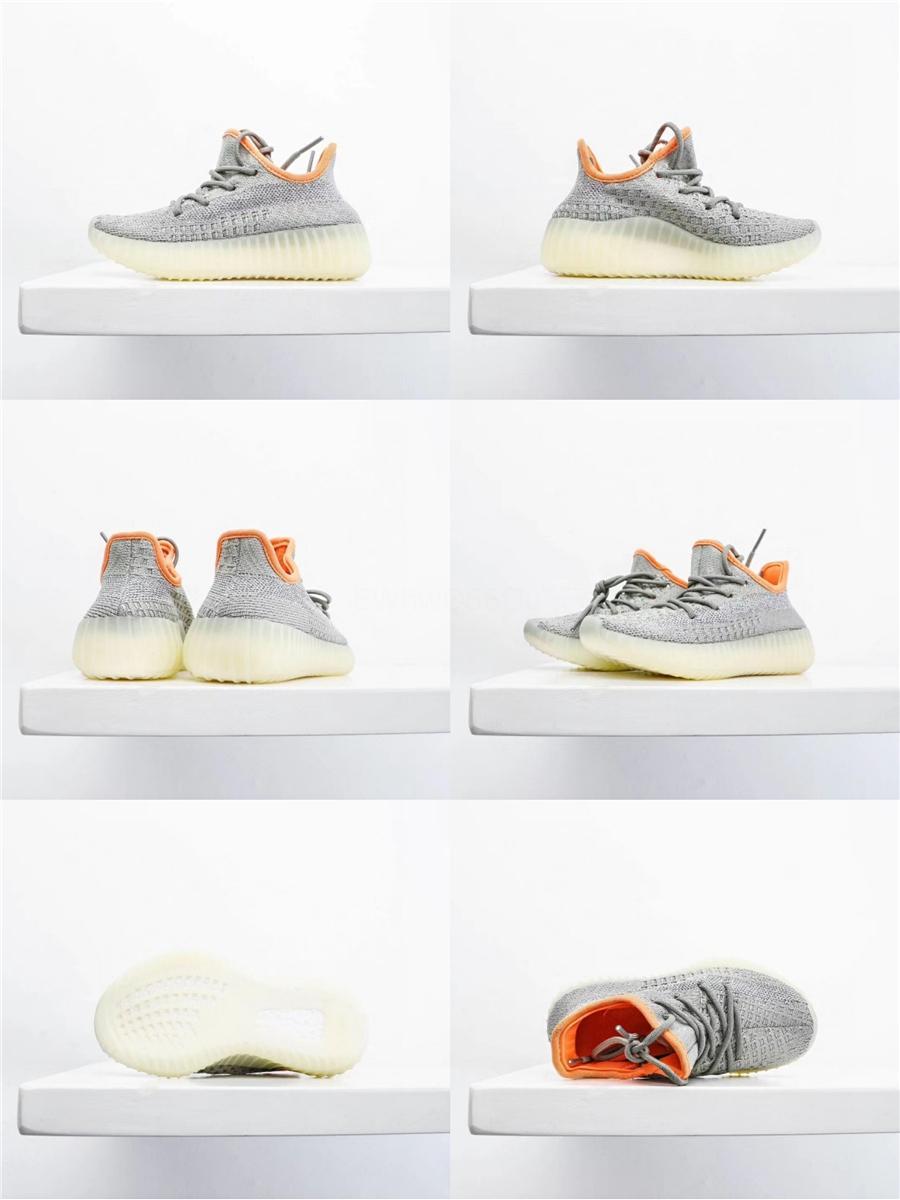 Nuove 2020 Kids Shoes Kanye West Zebra Beluga corridore dell'onda Grigio Arancione Nero Scarpe da corsa Formatori della ragazza del ragazzo dei capretti del bambino del regalo di compleanno Con 0E # 154