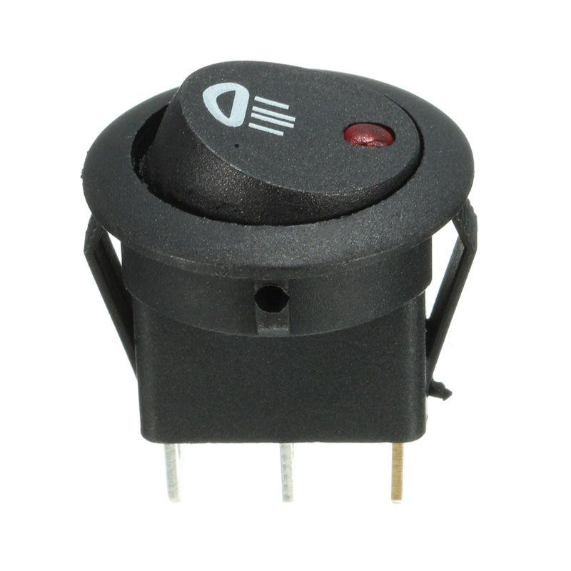 켜짐 / 꺼짐 5PCS 자동차 반 대시 라운드 12V 20A 조명 LED 안개등 로커 스위치