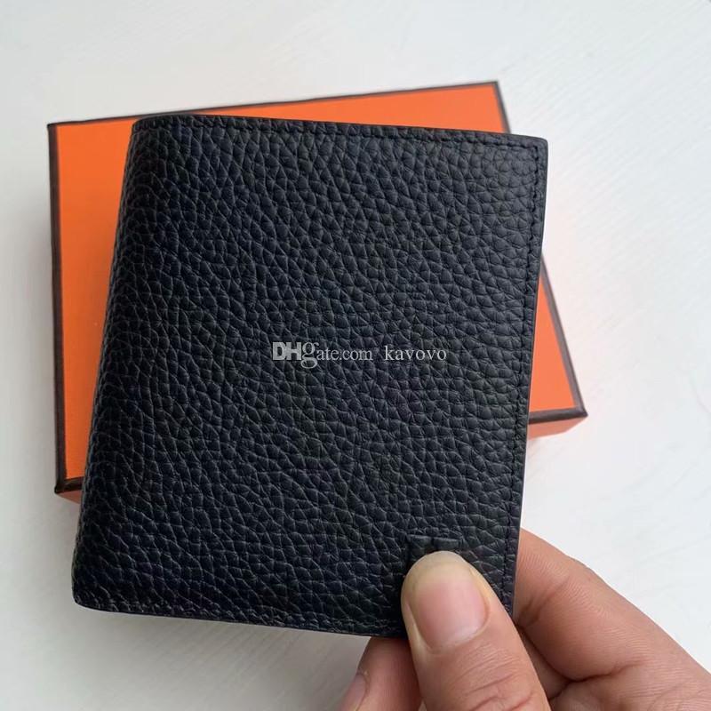 Hot en cuir véritable classique Homme monnaie Portefeuilles design de mode affaires et bourse de carte de crédit Porte-Carteras