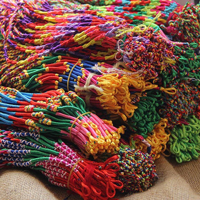 Braccialetto Girls di lusso colorato viola viola infinito braccialetto gioielli fatti a mano a buon mercato cordino treccia intrecciata amicizia bracciali