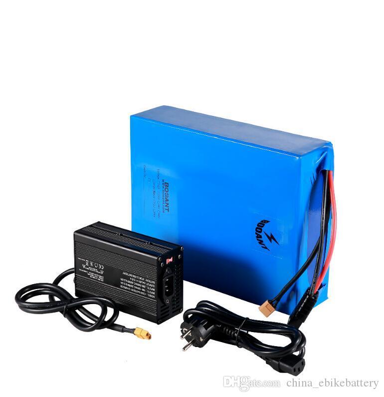 3000W motor + 2A Şarj için 100W için ücretsiz çin yüksek güç şarj edilebilir ebike pil 72V 20AH lityum piller
