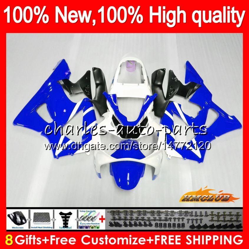 Bodys blue glossy For HONDA CBR 929RR 900 929 RR CC 900CC 929CC 900RR 76HC.144 CBR929RR CBR900RR CBR929 CBR900 RR 2000 2001 00 01 Fairing