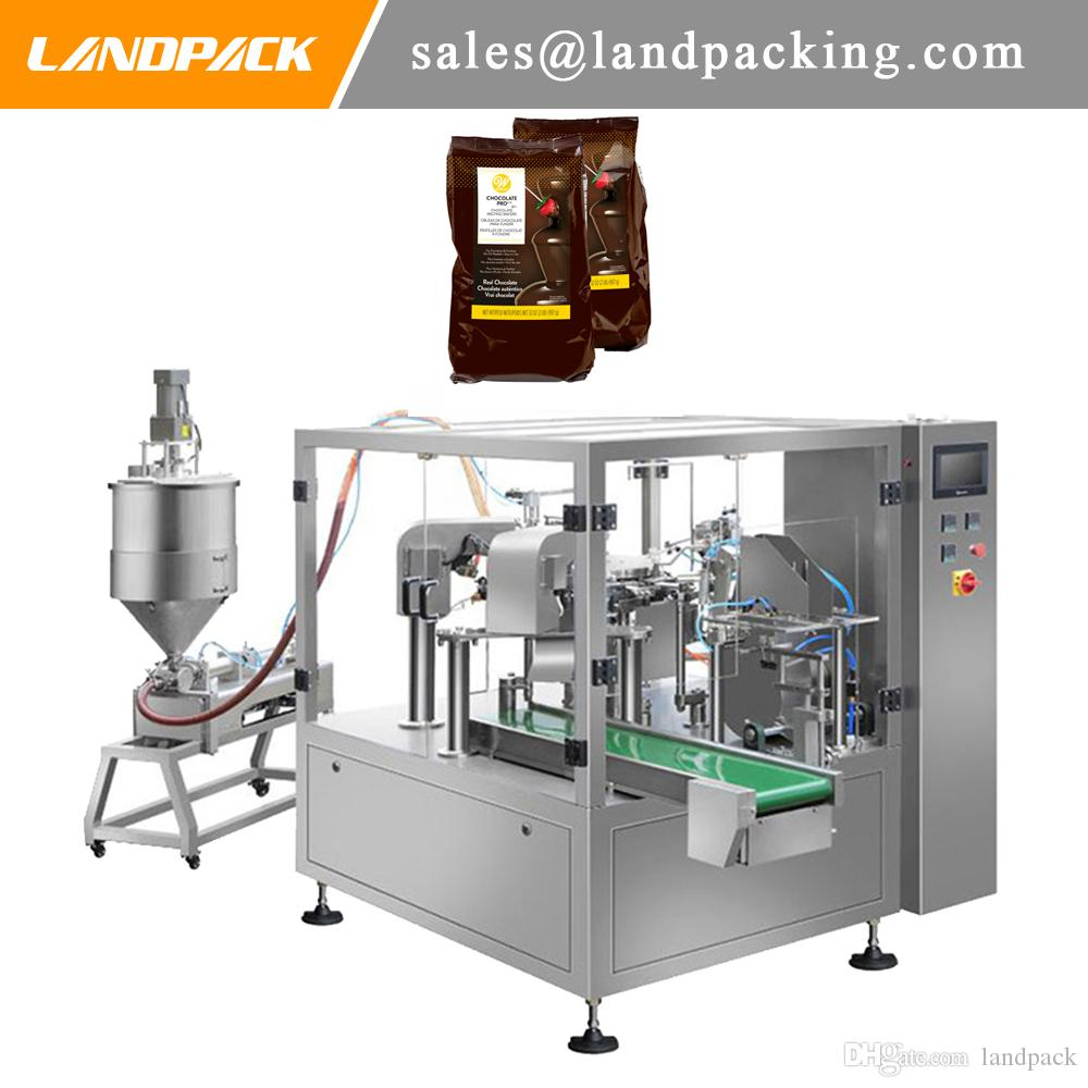 Chocolate Sauce Stand Up Pouch Filling And Sealing Machine Liquid Sauce Doypack Packing Machine Quality Manufacturer
