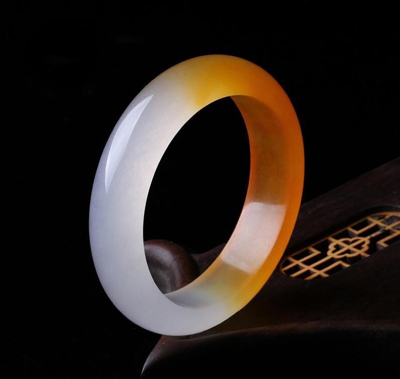 Bracciale in oro quarzite naturale Xinjiang Gobi braccialetto di giada gialla drago delle donne braccialetto di seta giada