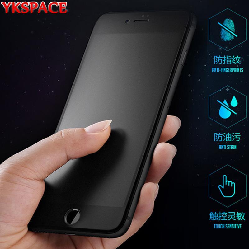 Schirm-Schutz Matte Frosted für iPhone X XR XS 11 Pro Max 6 6s 7 8 Plus SE 2020 Ausgeglichenes Glas Anti Blue Ray Kein Fingerabdruck