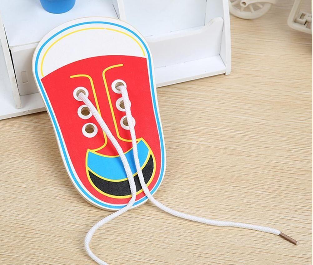 الأطفال لغز خشبي ال Tangram بانوراما مجلس طفل أحذية أطفال الكحول الوسائل التعليمية في وقت مبكر ألعاب تعليمية التعادل أربطة الحذاء لعب