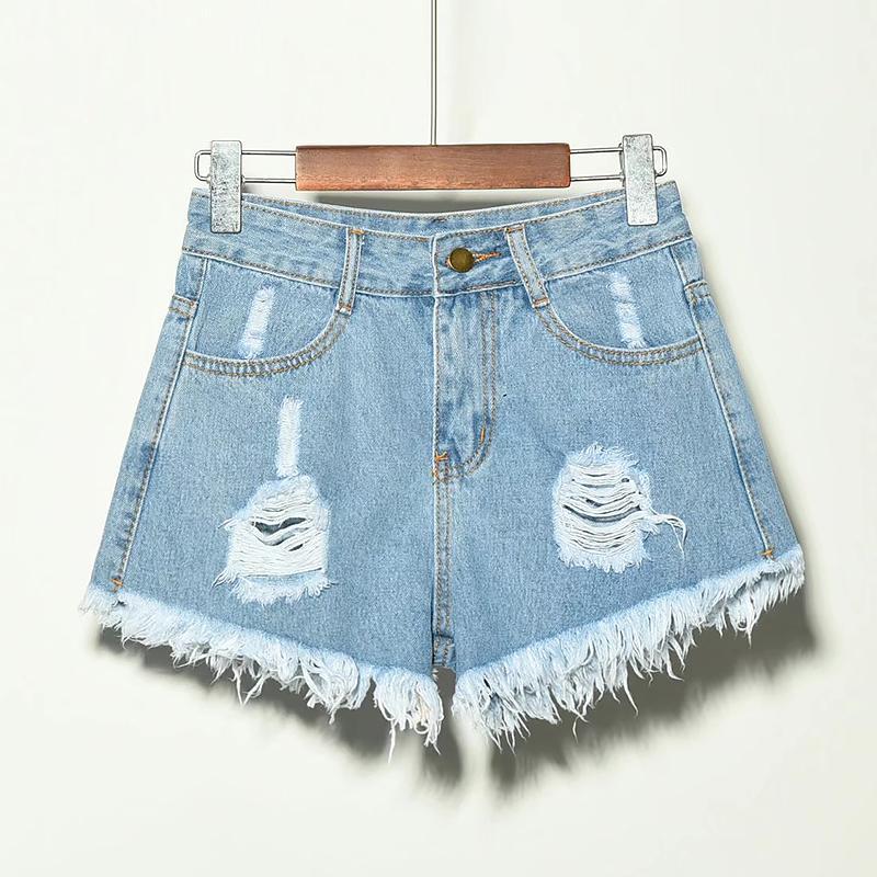 Kadın Şort Kadınlar Denim Yaz 2021 Moda Fermuar Düğme Lady Kısa Pantolon Rahat Katı Cepler Kadın Artı Boyutu 5XL