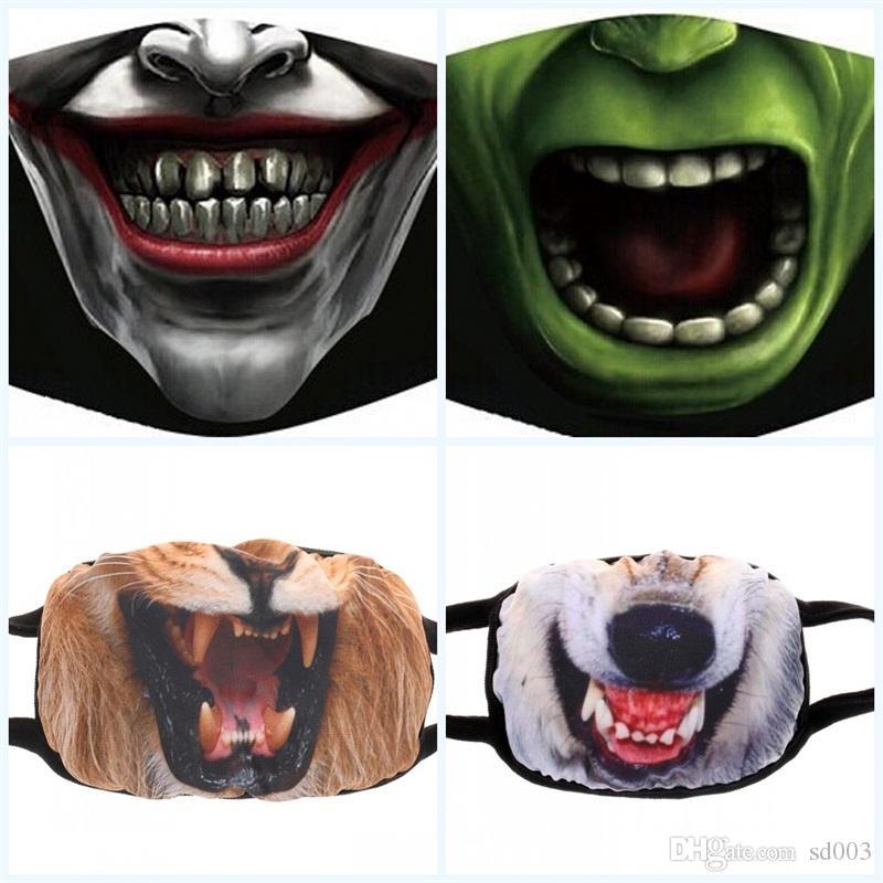 Masque Nouveaux produits non Mainstream pur coton antipoussière Bouche couverture Homme Femme Masques Creative Expression de la personnalité Hot Selling2 55hp p1