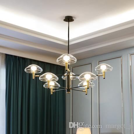 2019 nordic post-modern medley luzes pingente de vidro da lâmpada de ferro forjado minimalista lâmpada de luxo para sala de jantar sala de estar do hotel