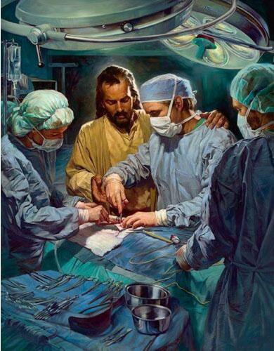 Nathan Greene CHIEF OF THE MEDICAL STAFF - Jesus in Operating Room Home Decor HD Print Oil Painting On Canvas Wall Art 200228