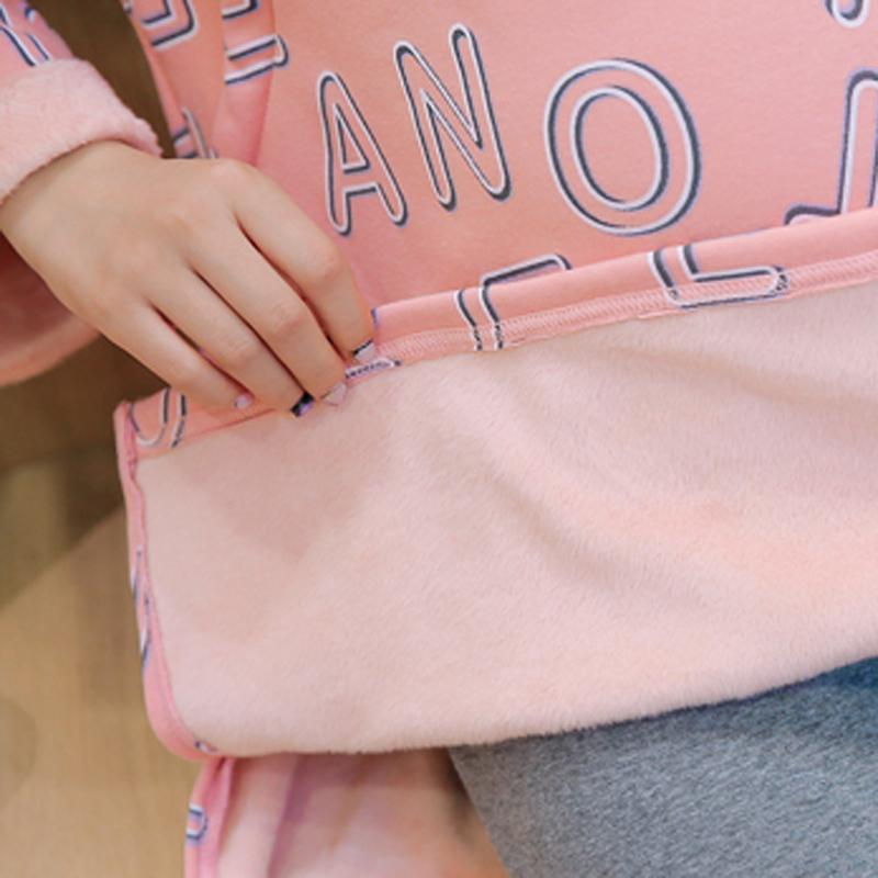 Breast feeding And Thickening Winter Long Sleeve T-shirt For Pregnant Women Sweater1662