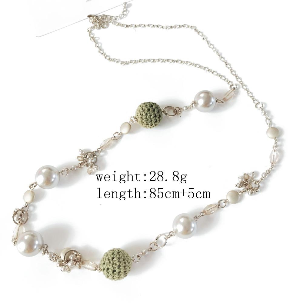 Free Shipping Long Pendang Ball Pearl Hand Making Necklace