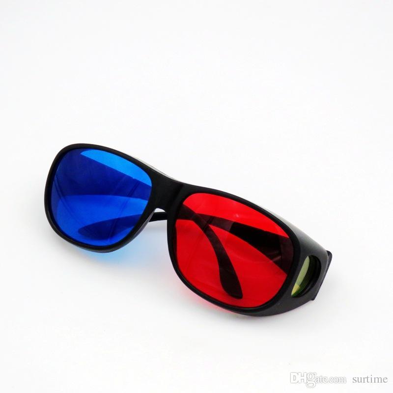 NEUE Mode Universal Typ 3D Brille / Rot Blau Cyan 3D Brille Anaglyphen 3D Kunststoff Brille für PC