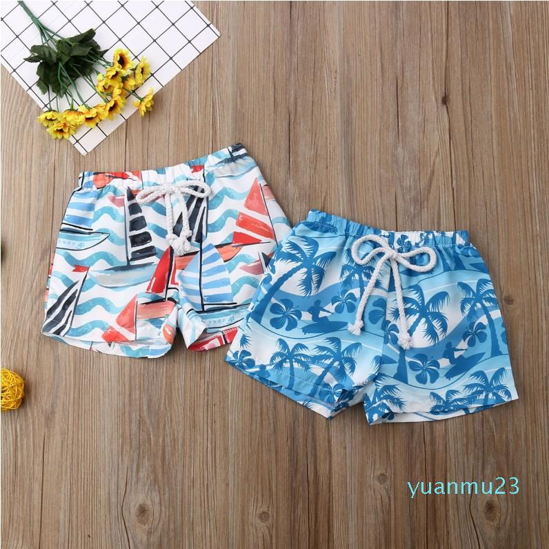 الجملة Hirigin صيف جديد هاواي طفل طفل بنين ملابس مطاطا سروال قصير زنار الصيف شاطئ السراويل