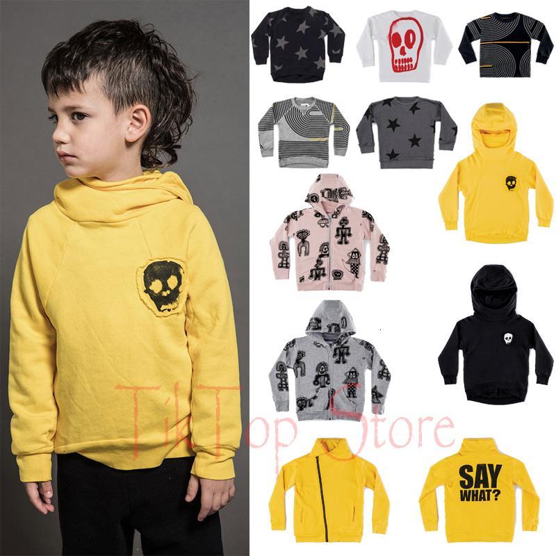 어린이 긴 소매는 소년 소녀 1-11 YMX190916를 들어 티셔츠 유아 해골 스타 스웨터 아기 의류 어린이 닌자 셔츠 탑