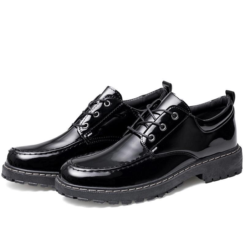 Новая Англия Стиль Мужские кожаные ботинки Спортивная обувь с низким вырезом Яркое Удобные женщин Открытый Пара Walking