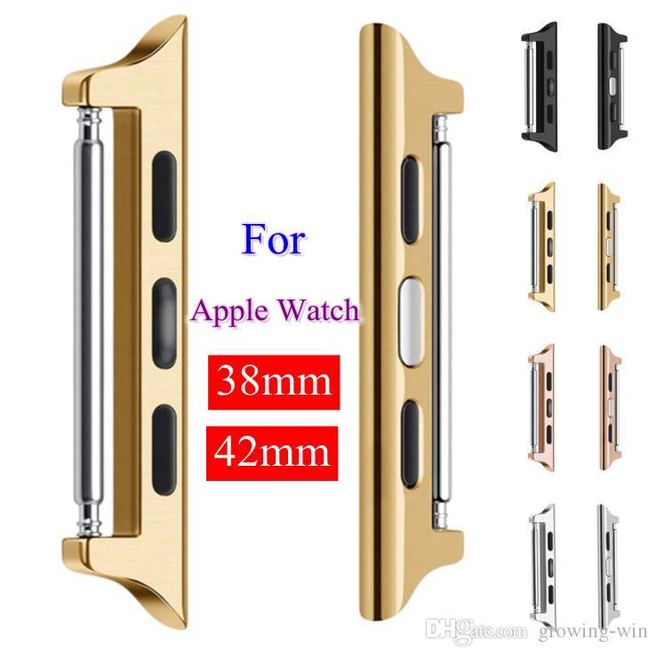 Adaptateur de connecteur d'oreille en acier inoxydable pour série de montres apple 1 2 3 Adaptateur de connexion 42mm 42mm iwatch Bracelets de montre Accessoires
