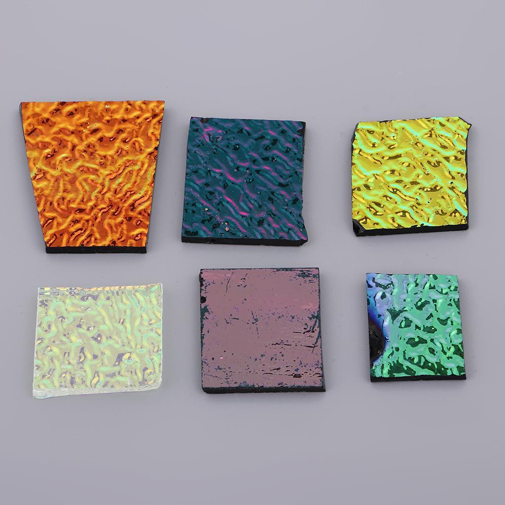 1 Ounch Surtido de cristal dicroico Piezas para la joyería del pendiente fabricación de los colgantes de cristal fusible Material Decoración