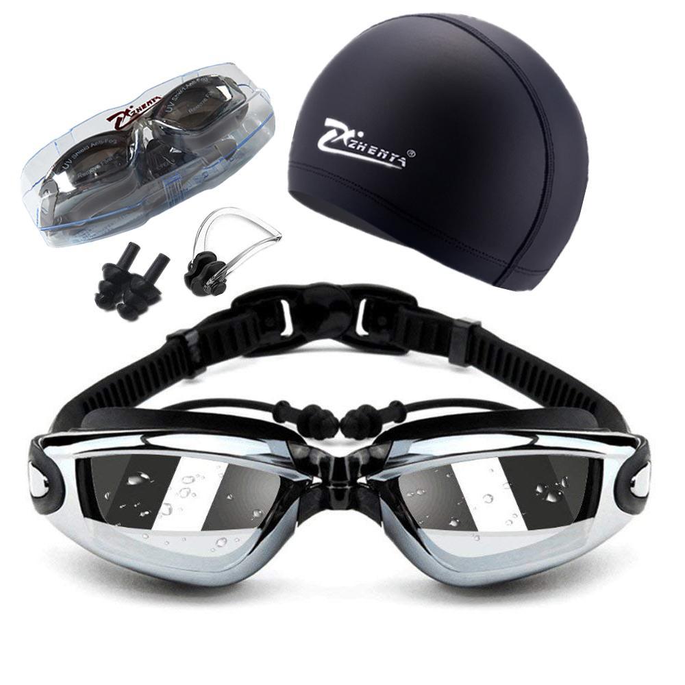 نظارات السباحة للبالغين من غوغل ميوبيا بروفيشنال 5 في 1 - مجموعة نظارات السباحة لمكافحة الضباب فوق البنفسجية - 150-800 C19041201