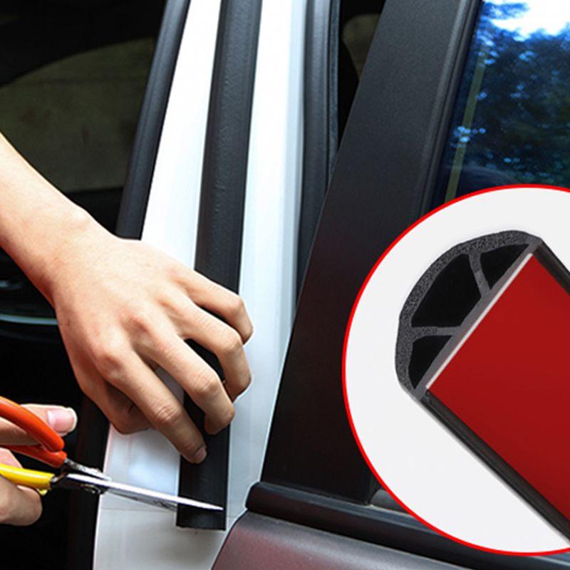 2Pcs дверь автомобиля резиновых уплотнений прокладка Filler Уплотнитель край Rubber Уплотнение для B Столб Защита для Универсальной Автоаксессуары