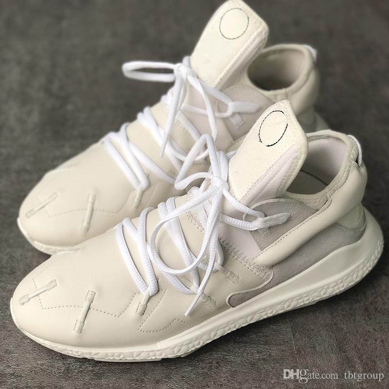 Kutu Büyük Boyutu 2020 Erkekler Sneakers Y3 Kaiwa Chunky Koşu Ayakkabı% 100 hakiki deri Tasarımcı Eğitmenler Düşük Kesim Rahat Günlük Ayakkabılar