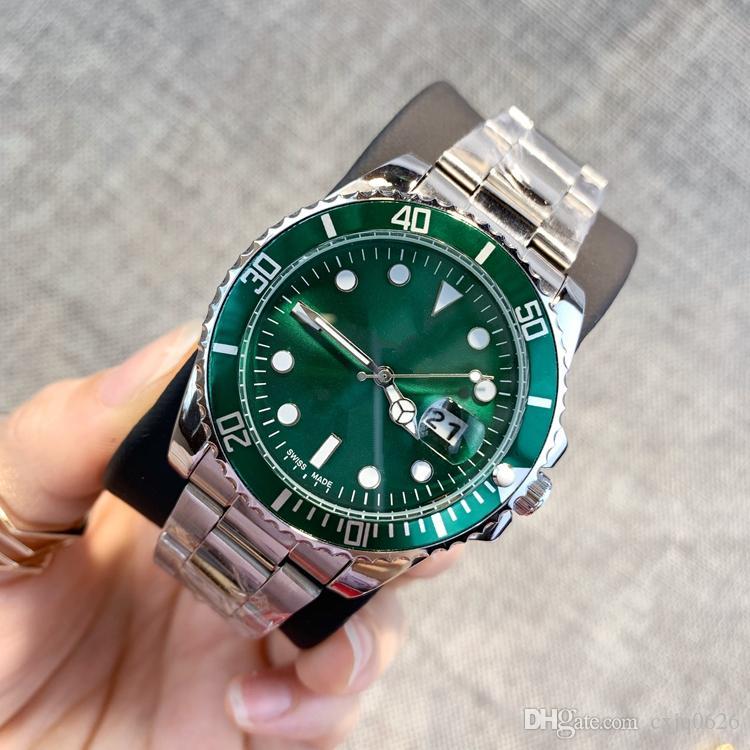 2019 클래식 모델 남자 시계 럭셔리 실버 스테인레스 스틸 쿼츠 손목 시계 디자이너 스타일 인기 현대 시계 남성 시계 높은 quailty