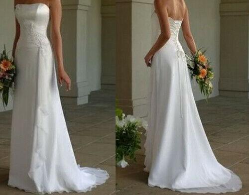 2021 Lace Tulle White//ivory Wedding dress Bridal Stock size 6-8-10-12-14-16-18