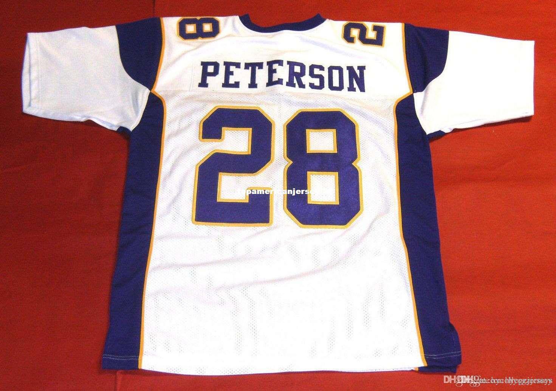 nbspNFL rétro # 28 ADRIAN PETERSON CUSTOM MITCHELL NESS Jersey RB Mens surpiqures S-5XL, 6XL Football Maillots de course