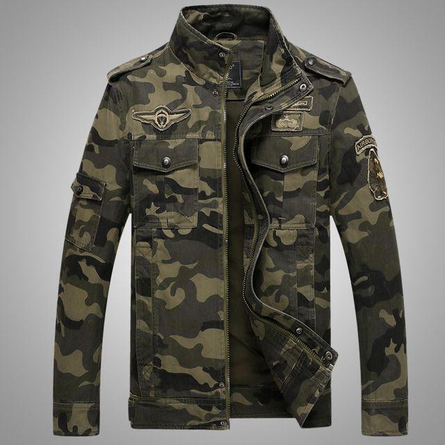 Camouflage Casual Allentato Giacca da uomo sportswear Bomber Top Coat Giacche da uomo e cappotti Plus Size M- 7XL Jaqueta Masculino