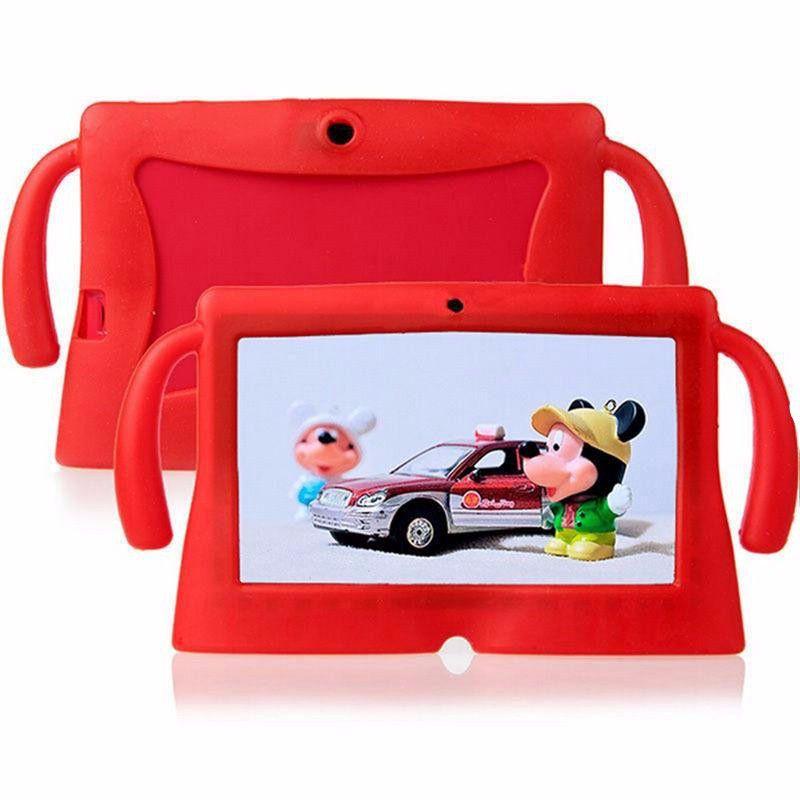 Custodia in silicone per Q88 7inch A33 Tablet per bambini Custodia in silicone PC antiurto morbida con manico