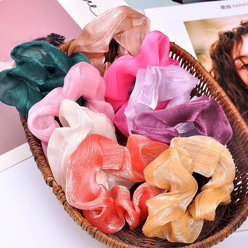 Ins modo delle donne del progettista nastri per capelli seta di raso ragazze scrunchies donne hairbands delle fasce dei capelli designer di accessori per capelli per le donne B1008