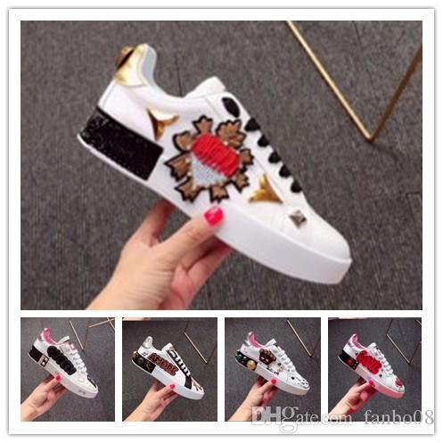 2019 new style brand sports shoes women Song Yi Di Li hot bar with the shoes hip hop graffiti banquet white shoes 1k19