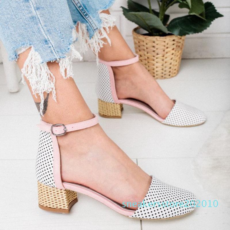 LOOZYKIT Mulheres Sandals Wedge High Heel Sandals Verão calçados casuais da bracelete Senhoras sapatos plataforma do partido ss