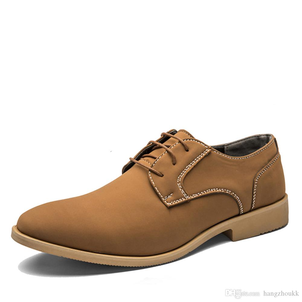 cuir véritable hommes appartements occasionnels robe imperméable oxford homme chaussures lacer pour le travail mocassins