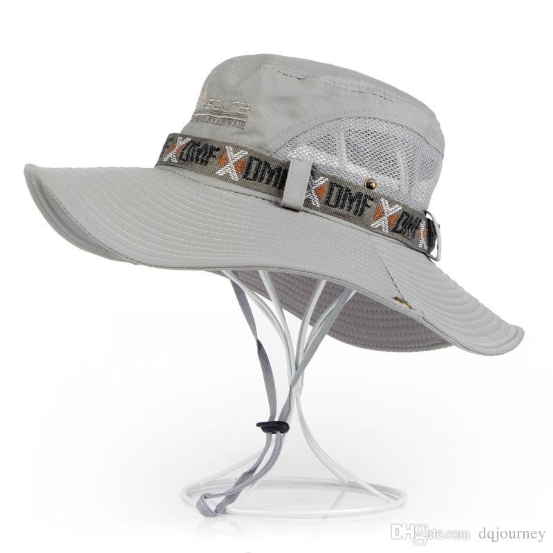 قبعة ذكر صيف صياد قبعة التكتيكي قناص القبعات في الهواء الطلق الشمس قناع الشمس شاطئ قبعة رجالية تسلق كاب الصيد