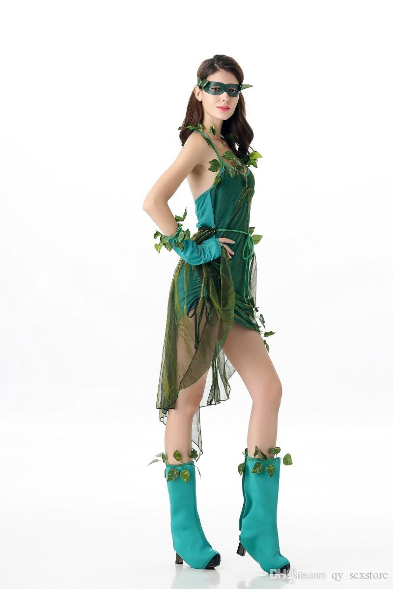 New Halloween New Cosplay Green Elf Tree Fairy Costume Party Party Stage Performance Albero Fairy Costume