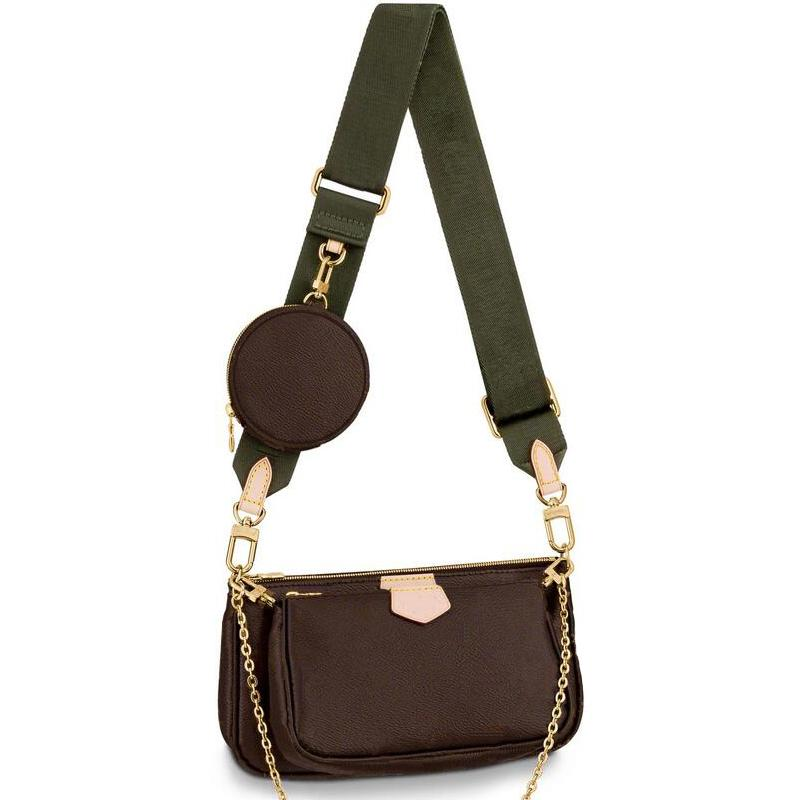 Tasarımcı çanta Çanta Çiçek Moda Kadın Kompozit Bez Deri Debriyaj Omuz Çantaları Bayan Çantası Cüzdan 3pcs / set M44813