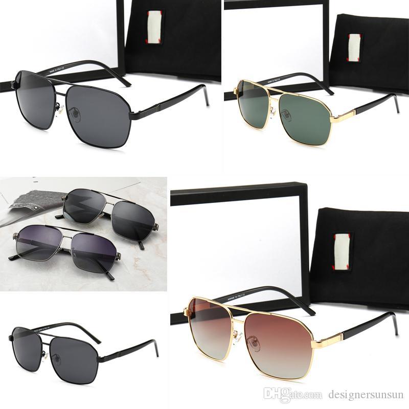 98020 verre de haute qualité Objectif Marque Designer Lunettes de soleil mode pour hommes et femmes UV400 Sport Vintage Lunettes de soleil avec des cas et la boîte de