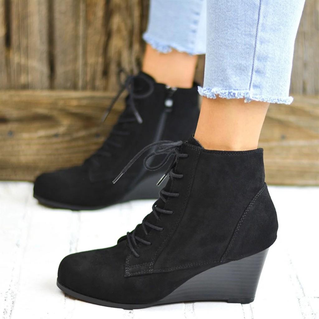 Girls Black Leather Look Block Heel Zip Up Ankle Boots Buckle My Shoe 10-5