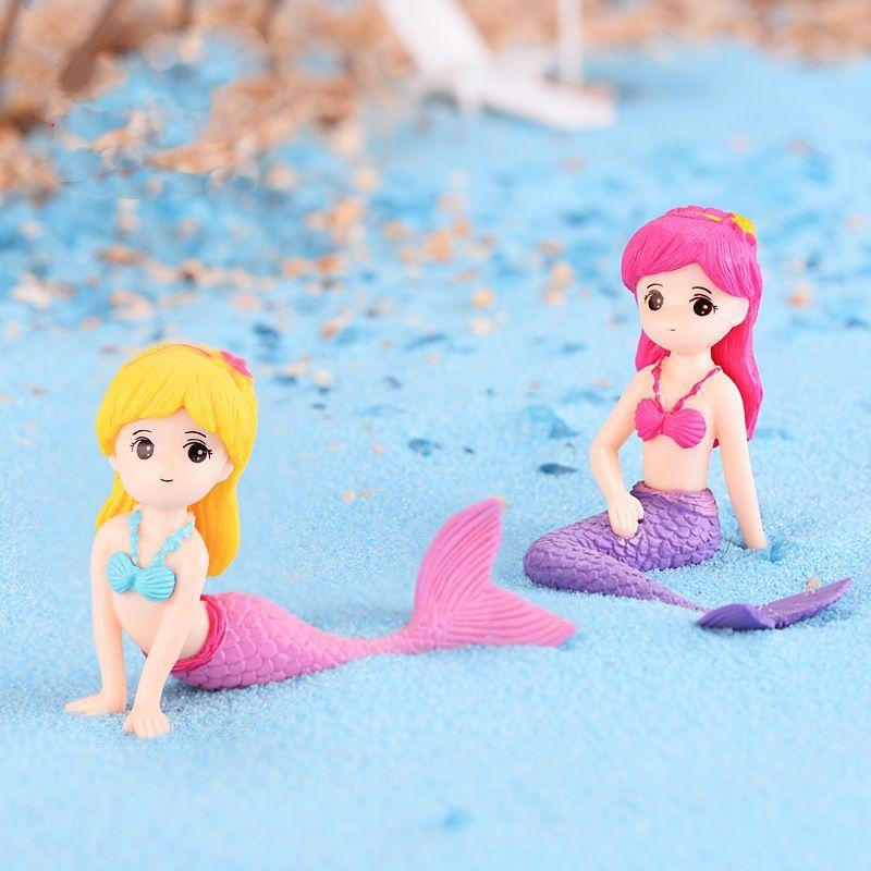 Mini Aquarium Decoration Mermaid Garden Miniatures Terrariums